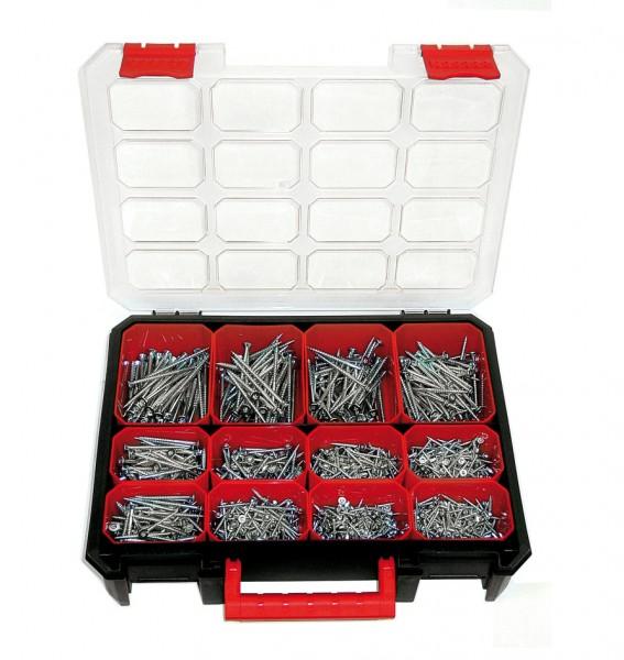 TX-Spanplattenschrauben-Koffer, 1.275 Schrauben