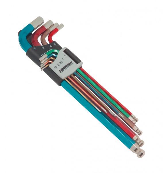 Kugelkopf-Sechskant-Stiftschlüsselsatz, 9-tlg., 1,5 bis 10 mm