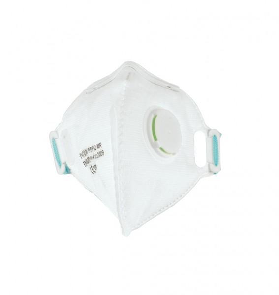 Feinstaub-Atemschutzmaske mit Ausatemventil, FFP2 NR, faltbar