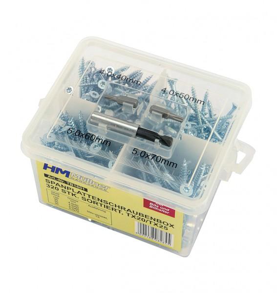 TX-Spanplattenschrauben-Box, sortiert