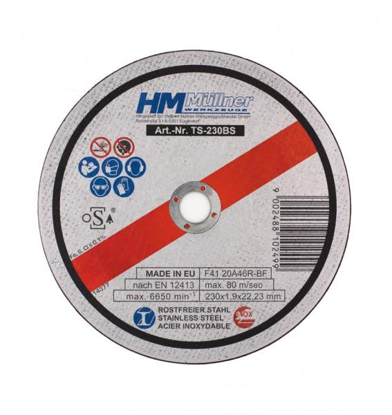 1,9-mm-Trennscheiben-Set, 5-tlg., 230 mm, für rostfreien Stahl