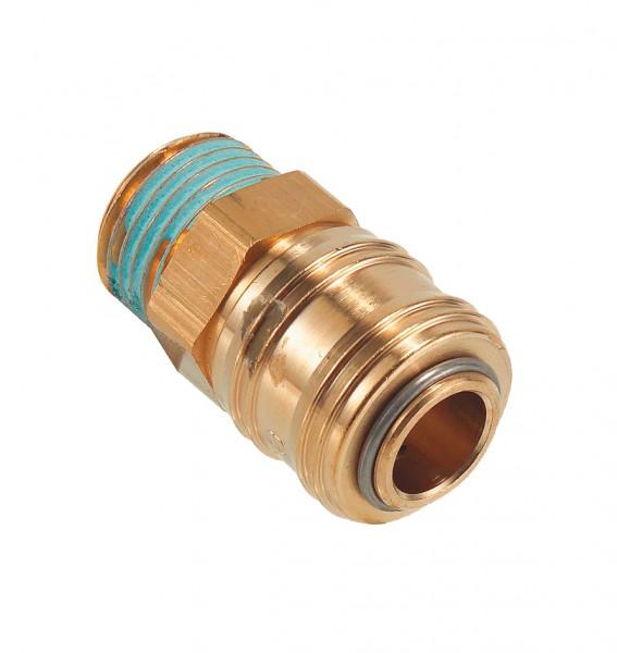 Druckluft-Schnellverschluss-Kupplung mit Außengewinde