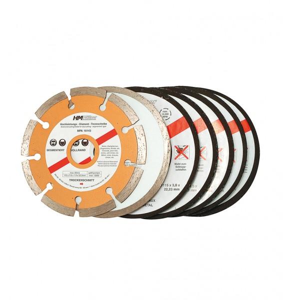 Trennscheiben-Set, 7-tlg., 115 mm
